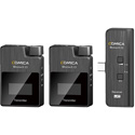 Comica BoomX-UC2 Compact 2.4 GHz Dual Wireless Microphone System for Smartphones (TX/TX/UC RX) (Li-Ion Battery)