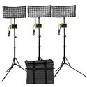 ikan CB8-3PT-KIT Light Kit with 3 x Canvas Bendable Bi-Color LED Panel Lights