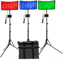 ikan CC8-3PT-KIT Canvas RGBWA Bendable 3-Point LED Light with 3x CC8