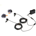 Comica CVM-D02 (B4.5M) Dual-Head Lavalier Omnidirectional Condenser Mic for DSLR/GoPro/SmartPhone - 14.8 Foot - Black