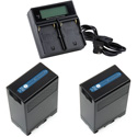 ikan DV-DUAL-U68 Battery Kit with 2x BP-U Li-ion Batteries & Dual Battery Charger