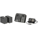 ikan DV-DUAL-S970 DV Camera Battery Kit with 2x Sony NP-F970 6600mah Replacement Lithium Batteries and Dual Charger