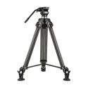 E-Image EG01A2 2 Stage Aluminum Tripod with Fluid Pan/Tilt Head - Payload: 11lbs