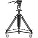 E-Image EI-7100H-KIT Air Controlled Pedestal Kit with 7100H Fluid Head / AT7903 Air Controlled Tripod & EI7004 Dolly