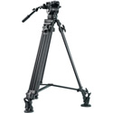 E-Image EK60AAM 2 Stage Aluminum Video Tripod Kit with 75mm Bowl & 17.6 Pounds Payload