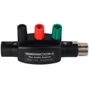 Sescom IL-XLR-POSTS XLR Connector Male and Female with Posts for Banana Plugs or Bare Wire