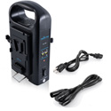 IndiPro Tools PD2BCH V-Mount Dual Battery Charger with XLR Output