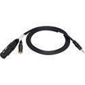 Sescom IPHONE-MIC-10 iPhone/ IPod/IPad Monitoring Cable TRRS to XLR Mic & 3.5mm Monitoring Jack -10 Foot