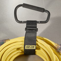 Rip-Tie 2x24 Inch Cable Carrier / 16cm Carabiner Style 50-Pack (Black)