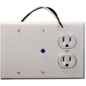 Juice Goose CQ-1 Single Sequenced 15 AMP Power Distribution Wallplate Module with Remote Control Capability