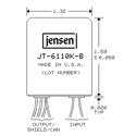 Jensen JT-6110K-B Line Input Transformer 4:1 Stepdown