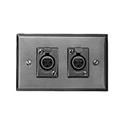 Switchcraft K3FS XLR Wall Plate - w/ Two D3F - Horizontal