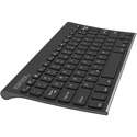 Kanex K166-1053 Compact Bluetooth Keyboard with Stand Cover - Rechargeable Li-ion Battery - Black
