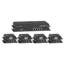 KanexPro SP-HDCAT1X4 HDMI 1x4 Distribution Amplifier over CAT5e/6 Extender Kit
