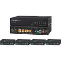 KanexPro SP-HDBT1X4KIT HDMI 1x4 Distribution Amplifier over CAT5e - 6 Outputs