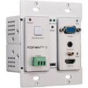 KanexPro WP-HDBASETX HDBaseT Wall Plate Transmitter w/VGA & HDMI 4K Scaler