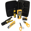 Klein Tools VDV001819 VDV Apprentice Cable Installation Kit with Scout Pro 2 - 6-Piece Set