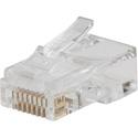 Klein Tools VDV826-703 Pass-Thru Modular Data Plug - CAT6 - 50 Pack