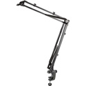 K&M 23840 Microphone Desk Boom Arm with 3/8 or 5/8 Inch Thread - Black