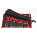 Knipex 98 99 13 S5 8 Pc Open End Wrench Set-Metric-1000V Insulated