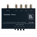 Kramer TOOLS 4X1VB 4x1 Composite Video Mechanical Switcher with BNC - B-Stock (Open Box)