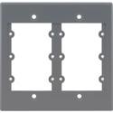 Kramer FRAME-2G-GY Frame For Wall Plate Inserts - 2 Gang - Grey