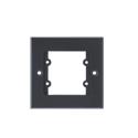 Kramer FRAME-1G Single Gang Frame to hold 3 Wall Plate Inserts - Black