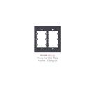 Kramer Frame-2G Frame for Wall Plate Inserts - 2 Gang (BLACK)
