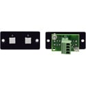 Kramer RC-20TB(B) Wall Plate Insert - 2-Button Contact Closure Switch - Black
