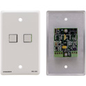 Kramer RC-2C(G) Wall Plate Insert - 2-Button Control Keypad - Gray