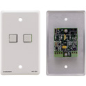 Kramer RC-2C(W) Wall Plate Insert - 2-Button Control Keypad - White