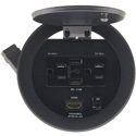 Kramer RTBUS-24(BC) Round Table Connection Bus - 2 US Power Sockets 2 USB Chargers & 1 HDMI Connector