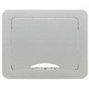 Photo of  Kramer TBUS-1AXL(BC) Table Mount Modular Multi-Connection Solution - Tilt-Up Lid - Brushed Clear Aluminum Top
