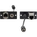 Kramer WA-45(G) Wall Plate Insert - 3.5mm Stereo Audio and RJ-45 - Gray
