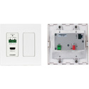 Kramer WP-789R/US-D(W) 4K60 4:2:0 HDMI 2-Gang PoE Wall-Plate Receiver with RS-232 & IR over Long-Reach HDBaseT