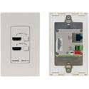 Kramer WP-211T/US(W/B) 4K60 4:2:0 2 HDMI to HDBaseT Wall Plate - White/Black