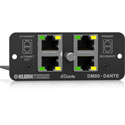 Klark Teknik DM80-DANTE Dante Expansion Module with 16x32 Channels - ULTRANET Audio Networking & Ethernet