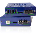 kvm-tec 6950 Media4KConnect Redundant - DP1.2 Set - Displayport 1.2 Over OM4 LC SM Duplex Fiber Extender
