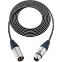 Sescom L2-3XXJ Mic Cable Pro Stage Series 3-Pin XLR Female to 3-Pin XLR Male Black - 3 Foot