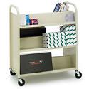 Slant 3-Shelf Booktruck 31W x 13D x 42H Beige