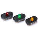 LED Stage Marker - Blinking Green 9 Volt battery Clip-On Stage Light