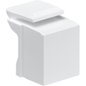 Leviton 41084-BW Blank QuickPort Insert - White - Pack of 10