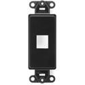Leviton 41641-00E Quick Port Decora Insert 1 Port - Black