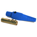 LEX CLS40FBD 400 Amp Cam-Type 16 Series Female Inline Connector 2/0 - 4/0 AWG - Blue
