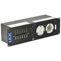 Lex PRM3IN 4CC3DC 30 Amp 3RU Enclosed Rack - L21-30 to L5-30/Duplex Receptacles
