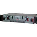 Lightronics RE82D-DP 8 Channel Rack Mount Dimmer with Edison Duplex Outlet Panel