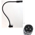 Littlite 24XR-LED 24 Inch LED Gooseneck with 3-PIN Right Angle XLR Connector