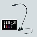 Littlite L-18-LED-3UV Lampset 18-inch Gooseneck Console Light Mounting Kit w/ Power Supply