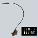 Littlite L-5/18-LED-3 Lampset End Mount 18-inch Gooseneck Console Light w/ Automotive Wiring Kit