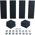 Primacoustic London 8 Room Kit (Black) - For Rooms 100 Square Feet